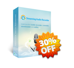 Apowersoft Streaming Audio Recorder Personal License boxshot 30OFF