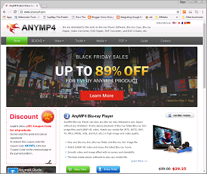 AnyMP4 website