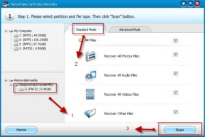 Tenorshare Card Data Recovery 4.5 screensot