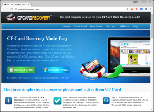 CFCardRecovery screenshot