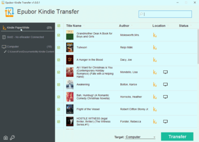 Kindle Transfer for Win