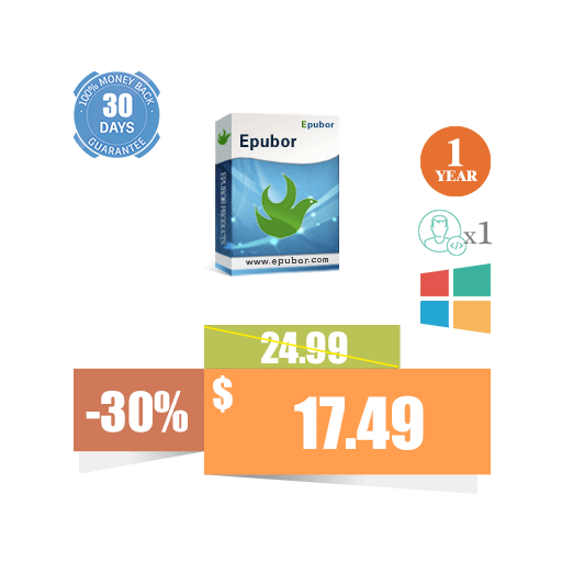 Epubor Pro for Win (1 PC, 1 Year)