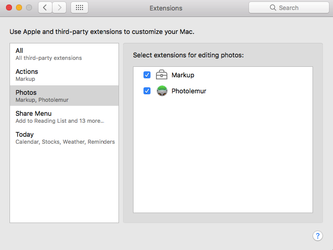 Enable Photolemur in System Preferences