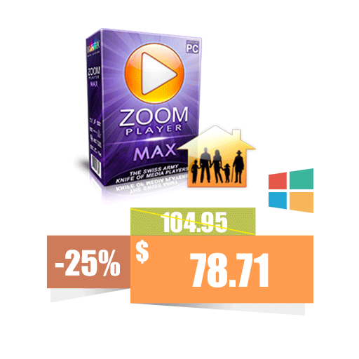 Zoom Player MAX 5xFamily Pack (1 Year)