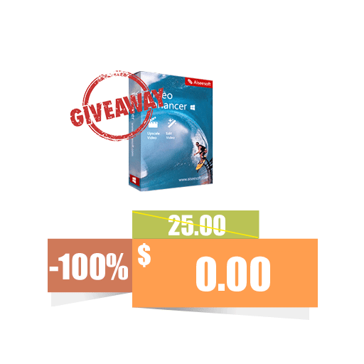 Aiseesoft Video Enhancer 100% discount