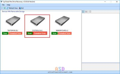 SysTools Pen Drive Recovery screenshot