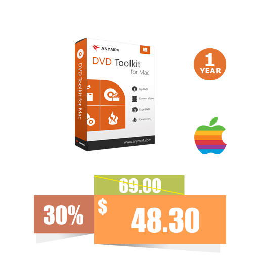 AnyMP4 DVD Toolkit for Mac (1 Year License)