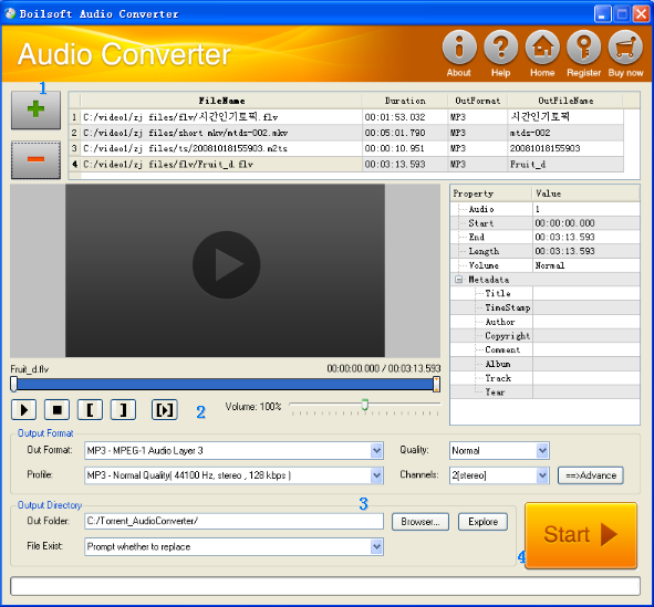 Make your own melody with Boilsoft Audio Converter