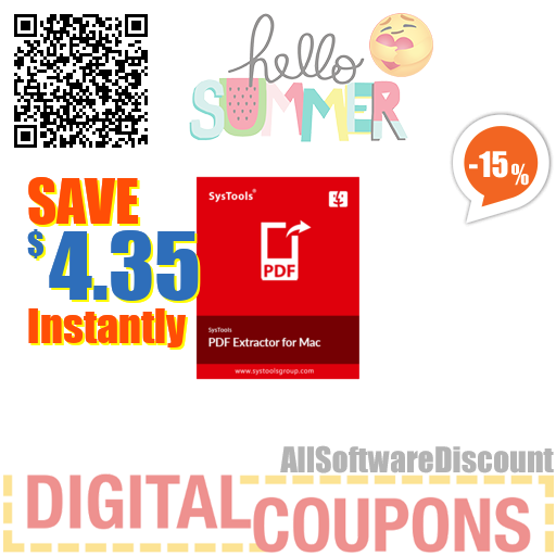 15% OFF SysTools Mac PDF Extractor July 2020