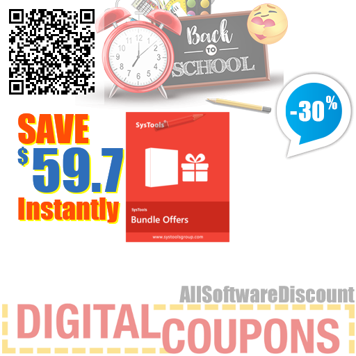 30% OFF Special Offer - SysTools Outlook Recovery + PST Converter + PST Compress + PST Merge + Email Duplicate Analyzer August 2020
