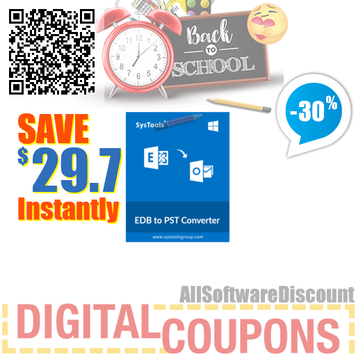 30% OFF SysTools EDB to PST Converter August 2020