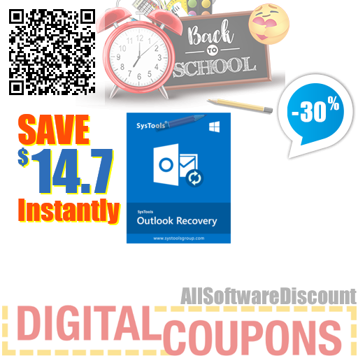 30% OFF SysTools Outlook Recovery AD August 2020