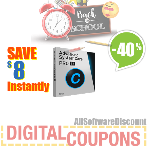 40% OFF Advanced SystemCare 13 PRO (1 year/ 1 PC)- Exclusive August 2020