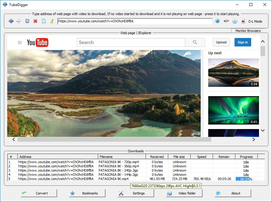 How to download online videos with TubeDigger